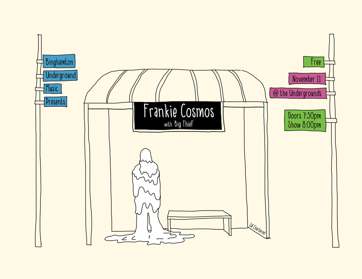 Illustrated poster for Frankie Cosmos concert