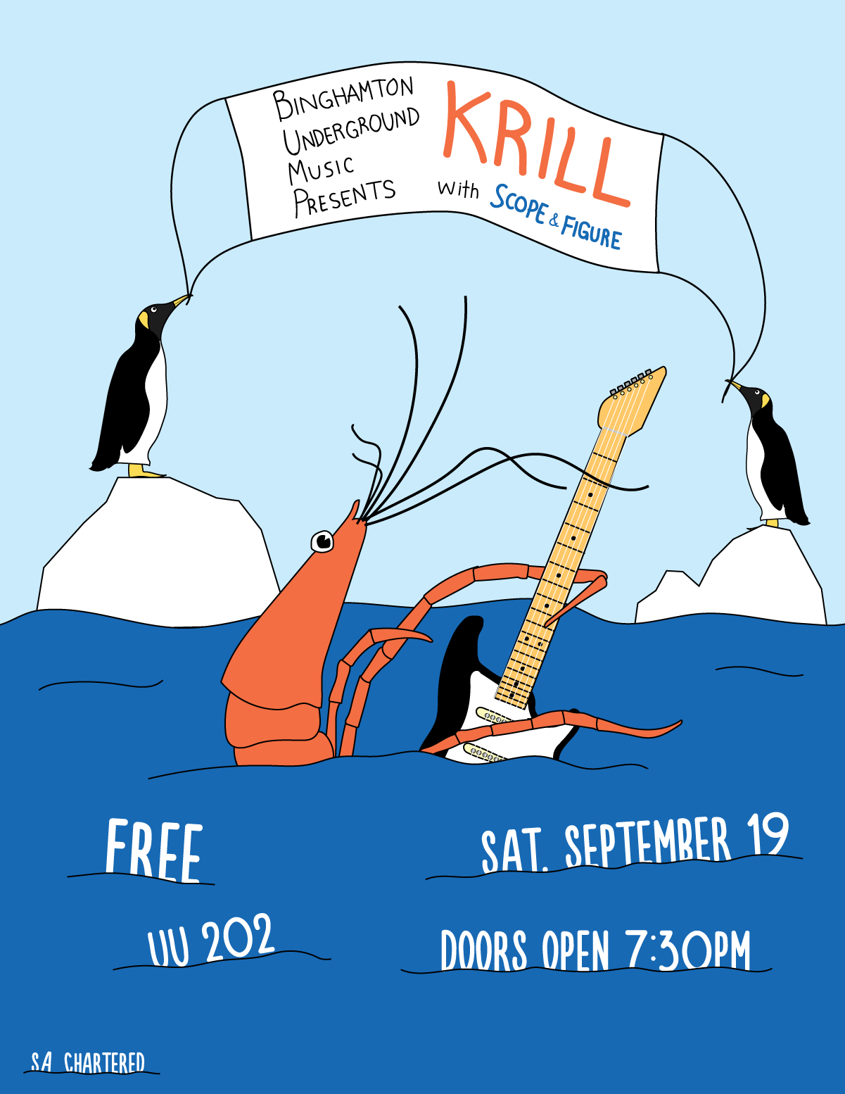 Concert poster for rock band Krill